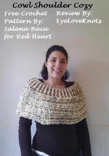 Cowl Shoulder Cozy Crochet Pattern Review Red Heartsalena Baca