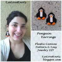 Penguin Earrings – Free Plastic Canvas Pattern & Jewelry DIY