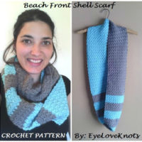 Beach Front Slanted Shell Infinity Scarf – Free Crochet Pattern
