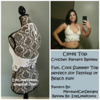 Ceres Top – Crochet Pattern Review – MermaidCatDesigns