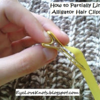 DIY – How to Partially Line a Double Prong Clip with Grosgrain Ribbon