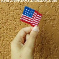 Wavy American Flag – Free Plastic Canvas Pattern
