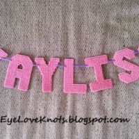 DIY Plastic Canvas Name Banners – GREAT Baby Shower Gift or Kids Room Decoration!