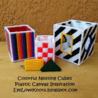 Colorful Nesting Cubes – Plastic Canvas Inspiration – Joan Green