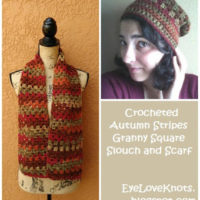 Crocheted Autumn Stripes Granny Slouch & Scarf – Review & FREE Pattern
