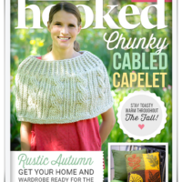 Chunky Cabled Capelet & Happily Hooked Magazine Issue 30