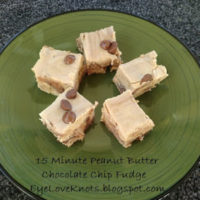 15 Minute Chocolate Chip Peanut Butter Fudge – An EyeLoveKnots Recipe