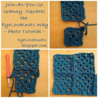 Join-As-You-Go Granny Squares the EyeLoveKnots Way – Photo Tutorial