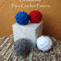 Celtic Weave Bauble Ornament – Free Crochet Pattern