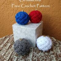 Celtic Weave Bauble Ornament – Free Crochet Pattern