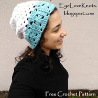 Iced Edge Granny Square Slouch Hat for the 2017 GrannySpiration Challenge – Free Crochet Pattern