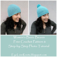 Women's Basic Beanie – Free Crochet Pattern & Step-by-Step Photo Tutorial