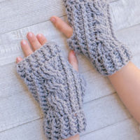 Cabled Fingerless Gloves & Pattern Pack Pro January 2017