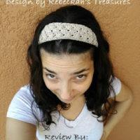 Adjustable Shells Headband – Crochet Pattern Review – Rebeckah's Treasures