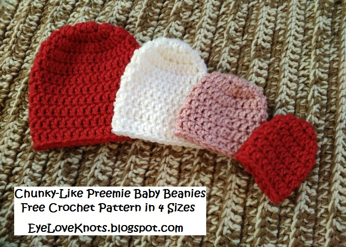 Please feel free to make and sell your own Chunky-Like Preemie Baby Beanies  using this pattern b13316eb2bc