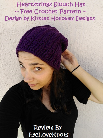 dd2519bd2 Heartstrings Slouch Hat – Crochet Pattern Review – Kirsten Holloway ...