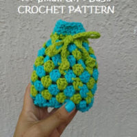 Granny Square Soap Cozy (or Small Gift Bag!) – Free Crochet Pattern