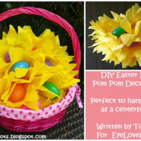 DIY Easter Egg Pom Pom Decoration – Written by Tiffany