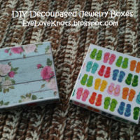 DIY Decoupaged Shabby Floral & Summer Sandals Jewelry Boxes