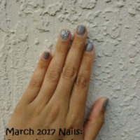 March 2017 Nails: Gray with a Daisy – Nail Inspiration