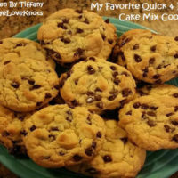 My Favorite, Quick and Easy Cake Mix Cookies – Written by Tiffany