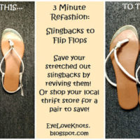 3 Minute Refashion: Slingbacks to Flip Flops