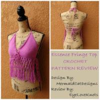 Essence Fringe Top – Crochet Pattern Review – MermaidCatDesigns