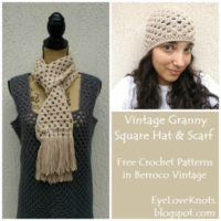 Vintage Granny Square Hat & Scarf – Free Crochet Patterns
