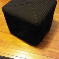 Single Solid Granny Square Ottoman Cover – Free Crochet Pattern