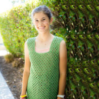Granny Square Tank Top & Happily Hooked Magazine Issue #40