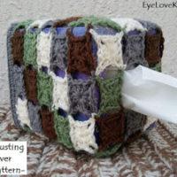 Granny's Stashbusting Tissue Box Cover – Free Crochet Pattern