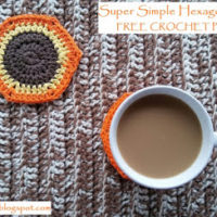 Fall Inspired, Super Simple Hexagon Coasters – Free Crochet Pattern