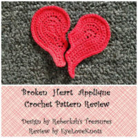 Broken Heart Applique – Crochet Pattern Review – Rebeckah's Treasures