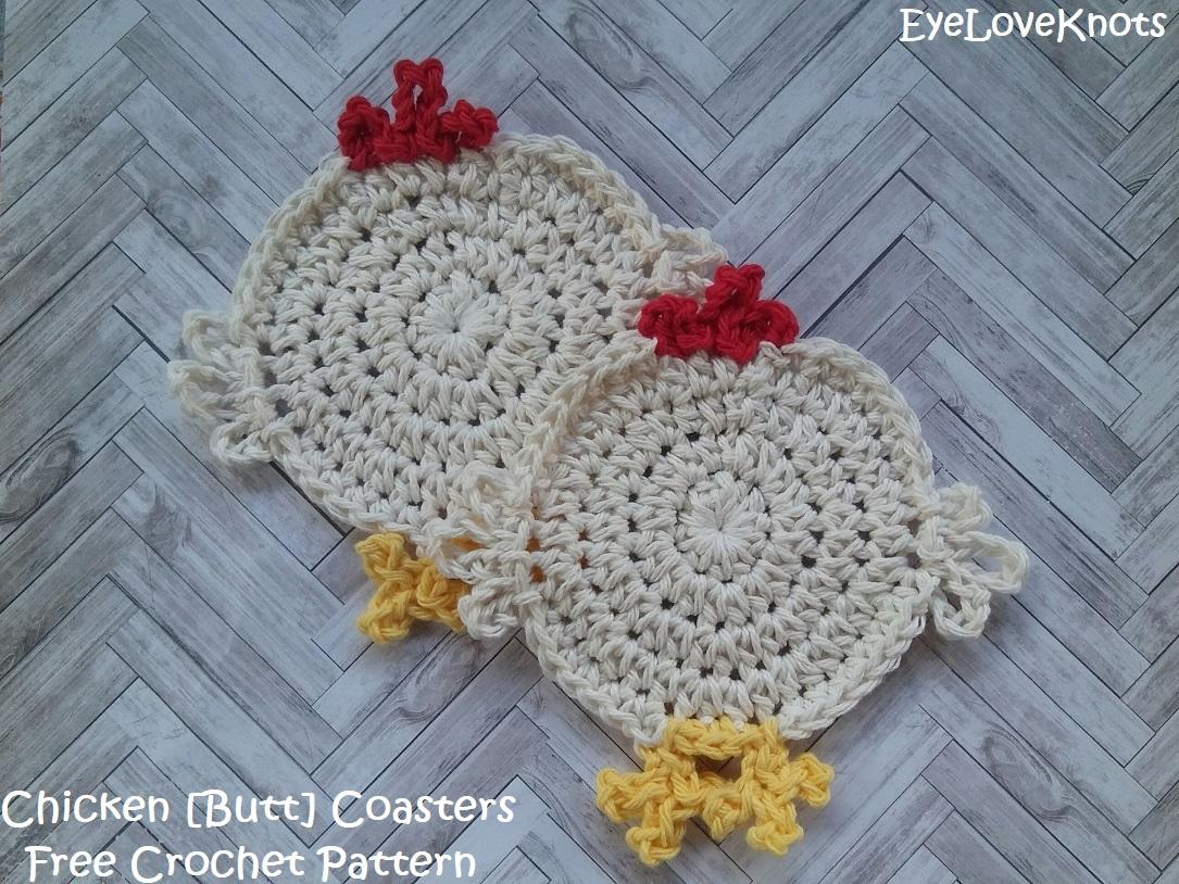 Chicken Butt Coasters Free Crochet Pattern