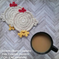 Chicken [Butt] Coasters – Free Crochet Pattern