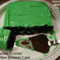 Green Frosted Thin Mint Brownie Cake – Perfect for St. Patty's Day!