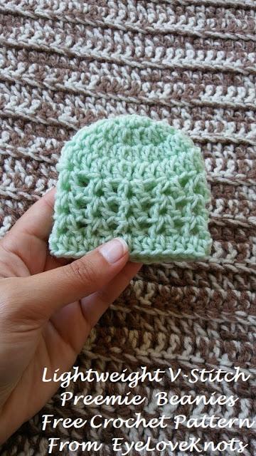 Lightweight VStitch Preemie Beanies Free Crochet Pattern Mesmerizing Preemie Crochet Patterns