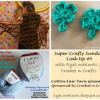 Super Crafty Sunday Link Up #4 – Cotton Fair Yarn Giveaway