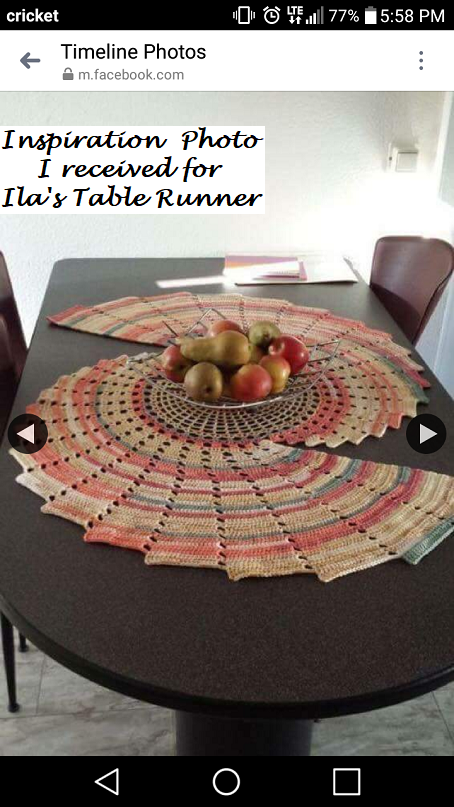 Ila S Table Runner Free Crochet Pattern