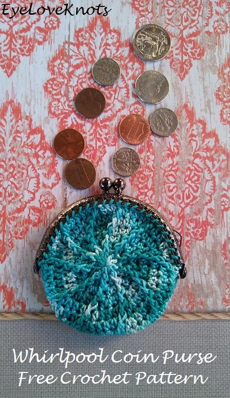 Whirlpool Coin Purse Free Crochet Pattern