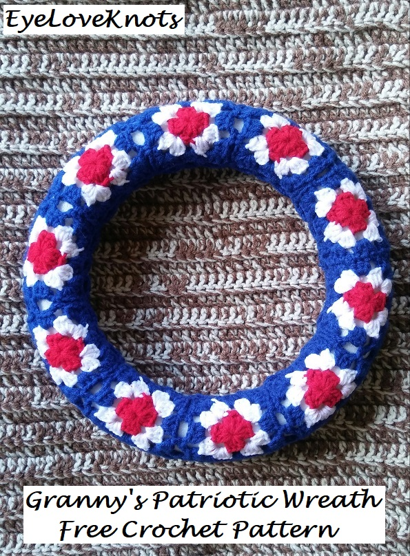 Grannys Patriotic Wreath Free Crochet Pattern