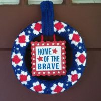 Granny's Patriotic Wreath – Free Crochet Pattern