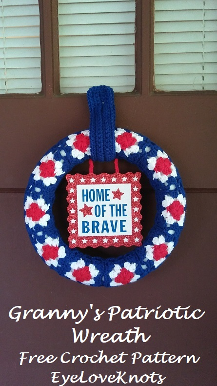 Grannys Patriotic Wreath Free Crochet Pattern