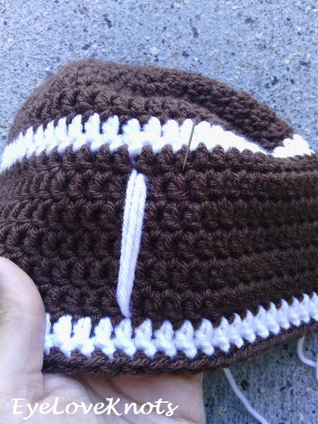 Its Football Season Beanie Free Crochet Pattern