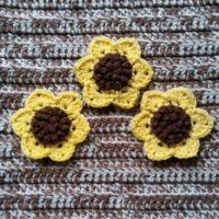 Sunflower Applique 2.0 – Free Crochet Pattern