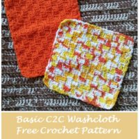 Basic C2C Washcloth – Free Crochet Pattern
