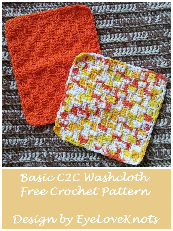 Basic C2c Washcloth Free Crochet Pattern