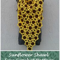 Sunflower Shawl – Free Crochet Pattern