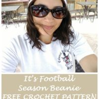 It's Football Season Beanie – Free Crochet Pattern #CrochetChristmasInJuly