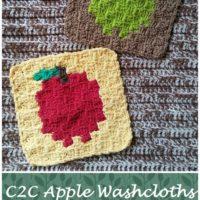 C2C Apple Washcloths – Free Crochet Pattern